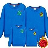 SANDA Sudaderas Mujer Baratas,Ropa para Padres e Hijos Primavera Familia Tres o Cuatro Madre-Hijo Madre e Hija Ropa Familiar suéter Rojo de Manga Larga-Lago Azul_Chico 130