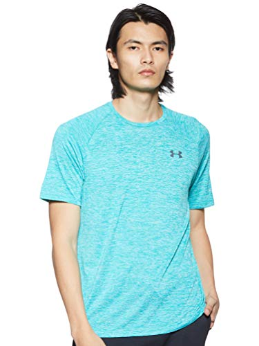 Under Armour Tech 2.0 Shortsleeve Camiseta, Hombre, Verde (Teal Rush/Pitch Gray 454), L
