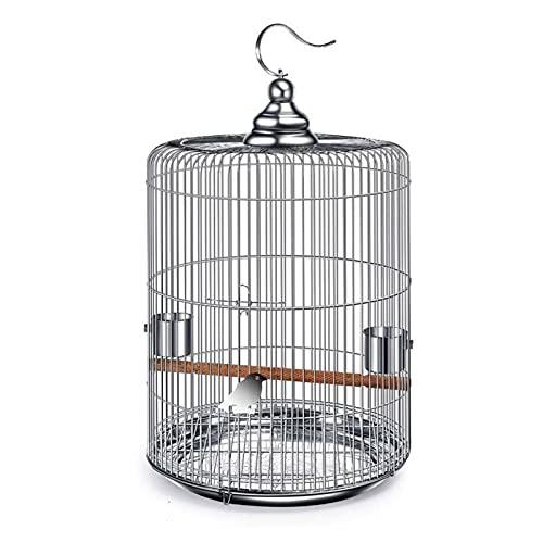 Parrot de jaulas de pájaros Jaula de pájaros de acero inoxidable Gran colgante de loros CRIENDA CAJA DE CAJA DE METAL METAL ACCESORIOS Para las cockatiels periquitos. ( Size : Model 36 )