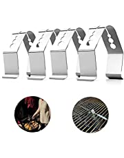 Barbecue Probe Clip Oven Oven Grill Thermometer Vlees Sonde Fixing Houder met Multi Holes 4 stks, BBQ Picknickbenodigdheden