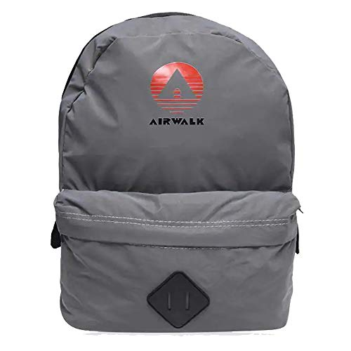 Airwalk Mens Padded Reflective Carry Zip Elite Backpack (One Size, Silver)