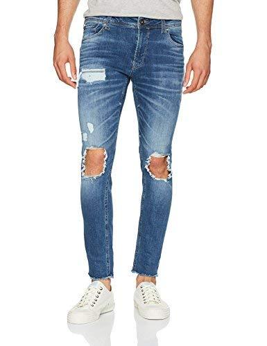 JACK & JONES JJILIAM Jjoriginal JJ 055 50SPS STS Jeans Skinny, Blu (Blue Denim), W32/L34 (Taglia Produttore: 32) Uomo