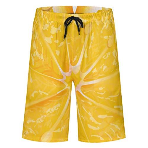 Firedancekid Zwembroek voor heren, sportbroek, zomer, strandmode, sneldrogend, zwembroek, zwempak, shorts met elastisch trekkoord, zakken, zonder binnenslip