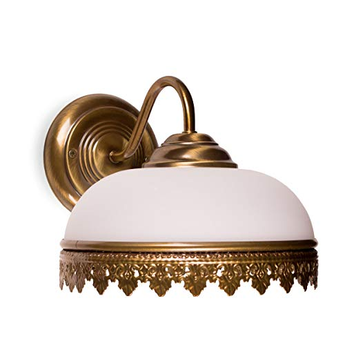 Helios Leuchten 304129 klassische Wandleuchte Messing antik   Lampe Leuchte Wandlampe Jugendstil  ...