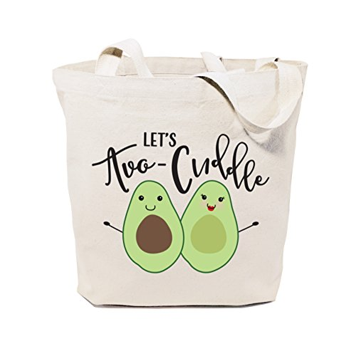 The Cotton & Canvas Co. Let's Avo-cuddle Reusable Grocery Bag and Farmers Market Tote Bag
