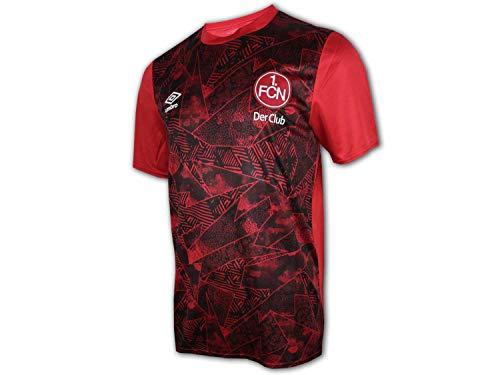 UMBRO 1. FC Nürnberg Kinder Warm Up Jersey rot FCN Fußball Junior Fan Shirt Club, Größe:152