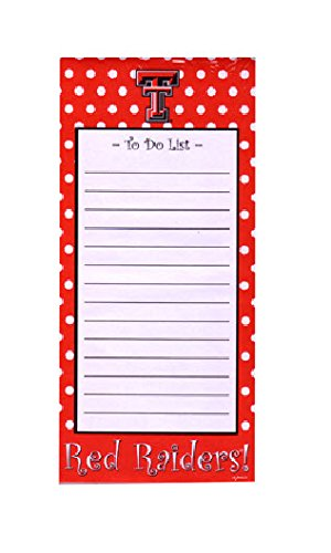 Game Day Outfitters NCAA Texas Tech Red Raiders Magnetic Stationary Note Pad, One Size, Multicolor