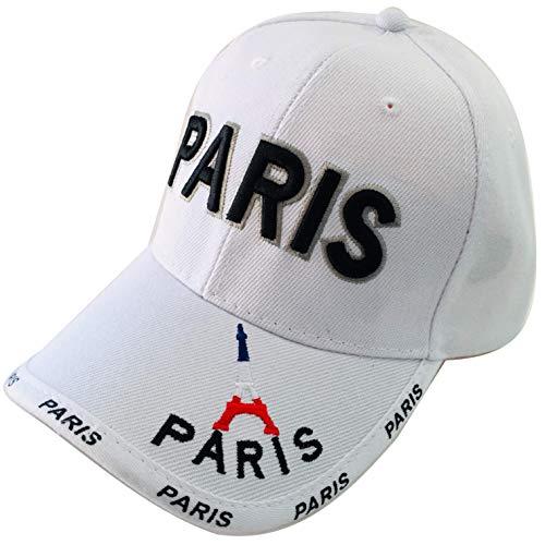 Vianaya Cap Paris Eiffelturm – Weiß – Junge und Sport – Aufschrift Paris und Mini Eiffelturm...