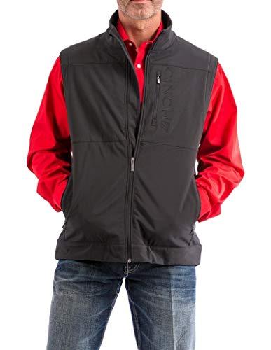 Cinch Men's Bonded Softshell Vest with Concealed Carry Pockets, Black, Large
