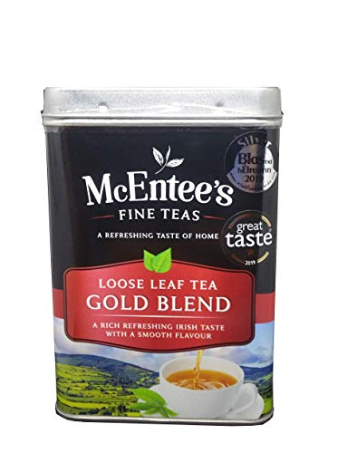 McEntee's Irish Loose Leaf Gold Blend Tea - 500g Tin - Expertly blended in Ireland to give that perfect cup of tea. A premium blend of Assam and Kenyan tea delivering that taste of home.