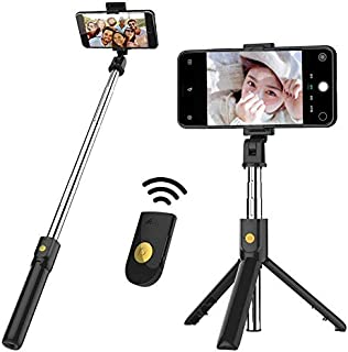 NMD&LR Bluetooth Selfie Stick, Multifunctional Universal Remote Tripod Selfie Stick Suitable For Most Mobile Phone Live Br...