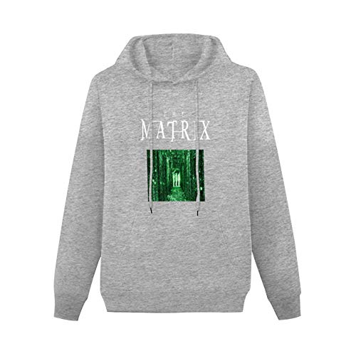 OWEN Tendencia Hooded The Matrix Sound Activated LED Sweater Gray 3XL Gift Gray 3XL