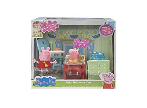 25460 Peppa Pig y Baby Alexander - Juego de muebles y efectos luminosos