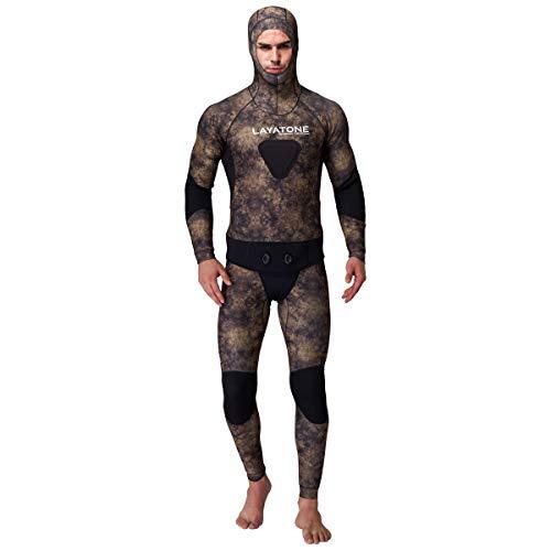 LayaTone Tauchanzug Herren Ganzkörper 5mm Neoprenanzug Surfanzug Schnorchelanzug Full Wetsuit Men