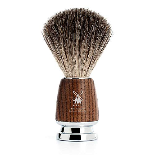 MÜHLE RYTMO Pure Badger Shaving Brush | High-Grade Steamed Resin Handle with Chrome Accents | Luxury Shave Accessory for Men
