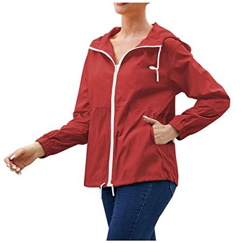 TOPSELD Jacke Damen Sweatjacke Hoodie Sweatshirtjacke Pullover Oberteile Kapuzenpullover(Gelb,S)