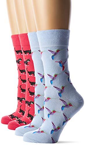 s.Oliver Socks Damen S20568000 Socken, Rosa (Paradise Pink+K.Blue 3311), 35/38 (4er Pack)