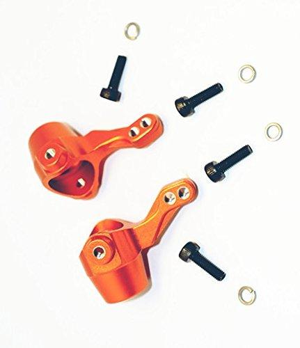 H-P-I BULLET3.0 MT ST KEN BLOCK WR8 FLUX Upgrade Parts Aluminum Alloy Front Knuckle Arm-1PR SET For 101208 Orange