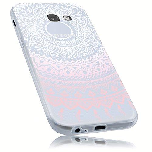 mumbi Hülle kompatibel mit Samsung Galaxy A5 2017 Handy Case Handyhülle dünn mit Motiv Mandala rosa, transparent