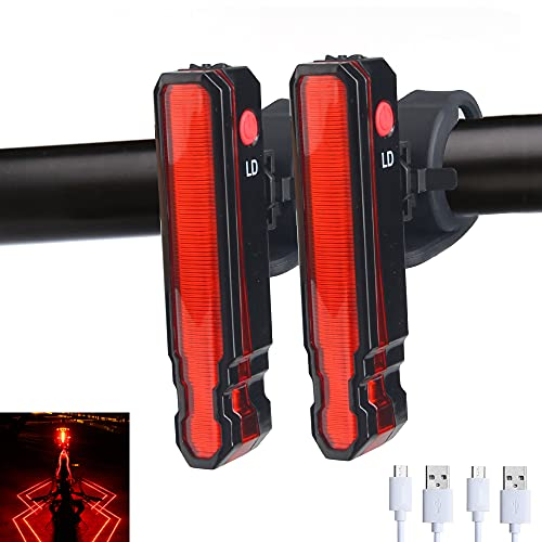 Bike Tail Light Flashing, Vastfire 6 Modes Spider LED Cycle Rear Light for Daytime or Night Riding, USB Rechargeable (2 Packs)