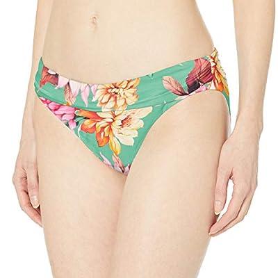 La Blanca Women's Shirred Band Hipster Bikini Swimsuit Bottom, Aloe Green//Garden Social, 8