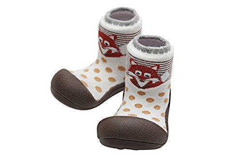 Attipas Zoo AZO0103, Zapatos Primeros Pasos para recién nacidos, Marrón, 21.5 EU (L 116-125 mm)