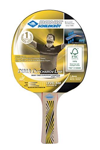 Donic-Schildkröt Tischtennisschläger Ovtcharov 500 FSC, AVS-Griffdämpfung, 1,8 mm Schwamm, FSC Holz, Elite - ITTF Belag, 714405