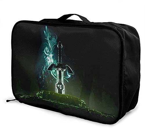 Juego de dibujos animados leyenda de Zelda bolsa de viaje plegable de moda ligera de gran capacidad portátil bolsas de equipaje cabina, bolsa de viaje bolsa de vuelo bolsa llevar en equipaje