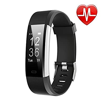 LETSCOM Fitness Tracker HR, Activity Tracker Watch with Heart Rate Monitor, Waterproof Smart Fitness Band with Step Counter, Calorie Counter, Pedometer Watch for Women and Men from LETSCOM
