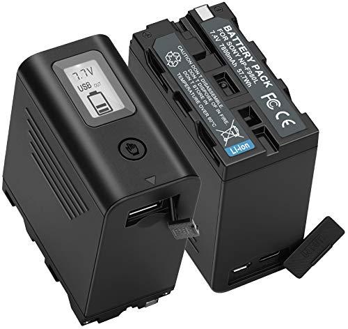 JYJZPB 2X NP-F970 Akku 7800mAh für Sony NP F970 F750 F770 F960 F550 F530 F330 F570 Kamera CCD-SC55 TR516 TR716 TR818 TR910 TR917 für Videoleuchten Fieldmonitore, NP-F970 Akku selbst aufgeladen