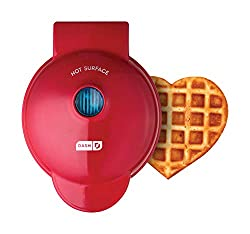 mini heart waffle maker -- a great kitchen gift for mom