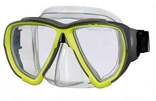 Beco Unisex– Erwachsene Porto Tauchermaske, gelb, One Size