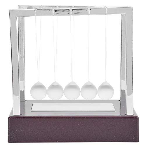 Atyhao Bolas de Equilibrio de la Cuna de Newton, Bolas de péndulo de luz LED de Colores Ciencia Juguete de Alivio de estrés físico para Regalo de Adorno de Escritorio de Oficina en el hogar(Metro)