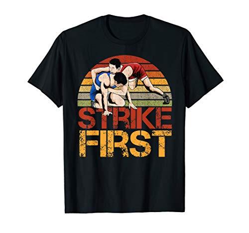 Amateur Wrestling Vintage Retro Greco Blood Sweat Glory Gift T-Shirt