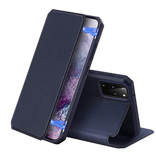 DUX DUCIS Hülle für Samsung Galaxy S20 Plus, Premium Leder Magnetic Closure Flip Schutzhülle handyhülle für Samsung Galaxy S20 Plus Tasche (Blau)
