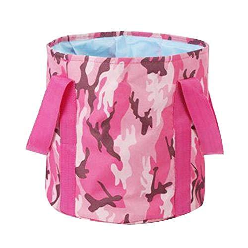 Tragbare Falten Waschbecken Sink Footbath Wasserbehälter Fuß Lagerung Eimer Spa Wascheimer Taschen Tub for Außen-Dark Blue Whale (Color : Camouflage Red)