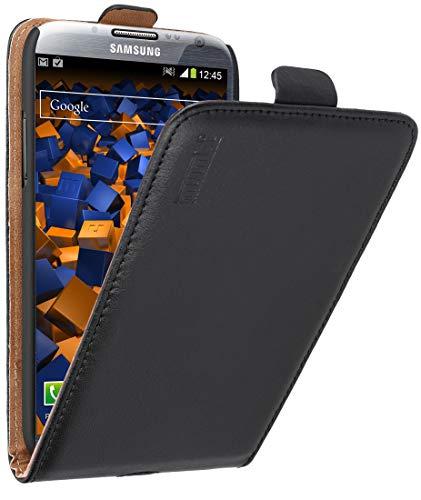 mumbi Echt Leder Flip Case kompatibel mit Samsung Galaxy Note 2 Hülle Leder Tasche Case Wallet, schwarz