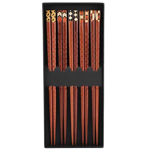 Juego de palillos, 5 pares de palillos reutilizables, palillos de cocina para cocinar, comer