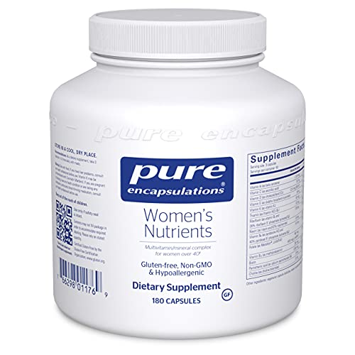 Pure Encapsulations Women's Nutrients   Multivitamin for Women Over 40 to Support Urinary Tract Health, Breast Cell Health, and Eye Integrity*   180 Capsules