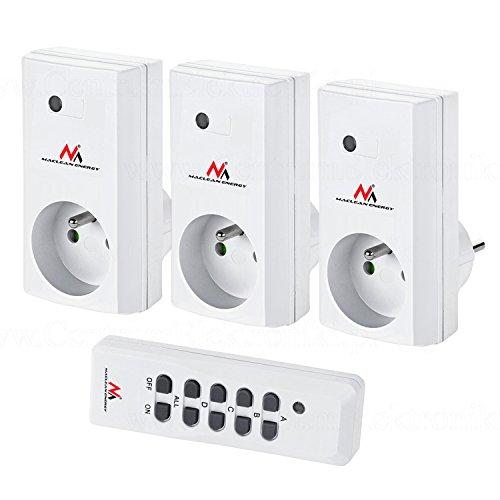 Maclean MCE153 draadloze schakelset draadloos stopcontact set met afstandsbediening max. 3600 W wit (3)