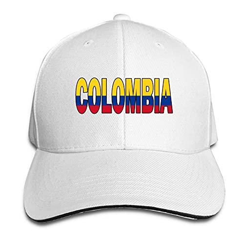 XCNGG Gorra para Hombre y Mujer, Bandera Colombiana Colombia Gorra Sándwich Ajustable Pico Casquette Sombrero Vaquero