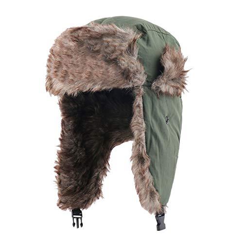 MeOkey Sombrero de Trampero Unisex Impermeable Invierno Cálido Gorro de Aviador Ruso para Actividades al Aire Libre