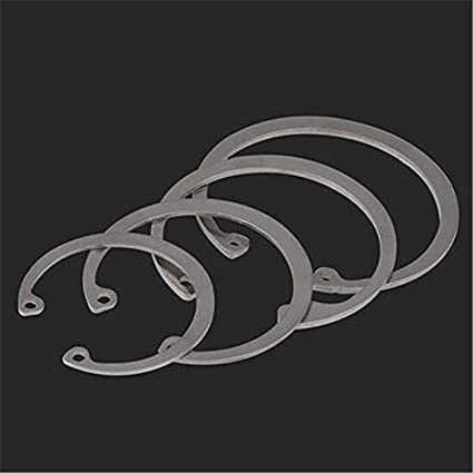 Inner Dia: M40 10pieces WSHR-07538 304 Stainless Steel Circlip for Hole C-Type Retaining Ring Inner Card Spring M37-M75