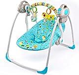 ZWQ kids Siège de balançoire bébé électrique Bouncers Rockers Seat avec Cadeau d'inclinaison de Musique pour New Born Baby,A