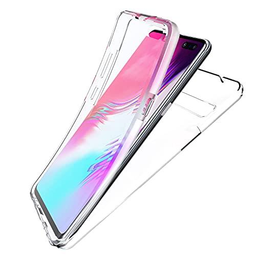N NEWTOP Cover Compatibile con Samsung Galaxy S10 5G, Custodia Crystal Case in TPU Silicone Gel PC Protezione 360° Fronte Retro Completa