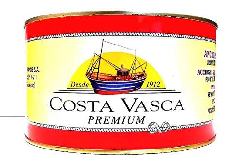 Acciughe Salate del Mar Cantabrico 13/14 Pesci per Strato COSTA VASCA - 5kg - [1 unitá]