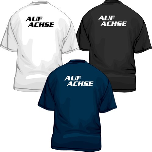Auf Achse T-Shirt Fanshirt Kult TV-Serie, schwarz, XXL
