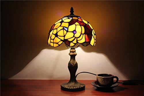 TOYM-8 pulgadas dormitorio acogedor jardín lámpara de estudio de estilo europeo creativa vidrieras lámpara de pantalla de la lámpara arte hecho a mano
