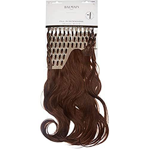 Balmain Lot de 100 extensions de cheveux humains 40 cm de long Numéro L5 Brun clair 0,09501 kg