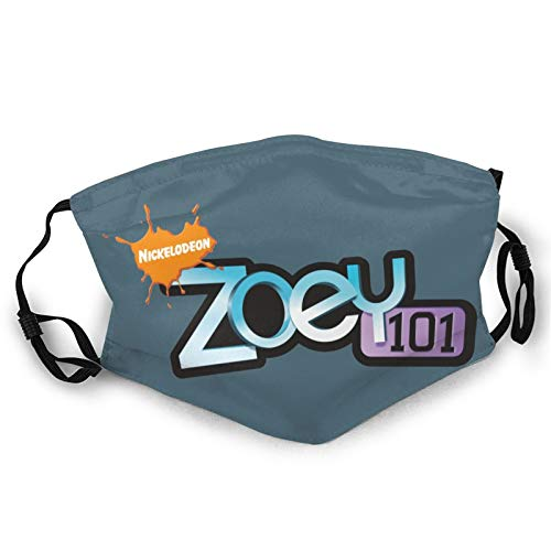 AAVTT Zo-E-Y 101 Logo Adults Dust Mask Washable Reusable Adjustable for Outdoor Riding Fashion Casual Black